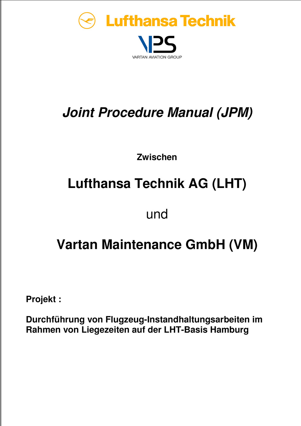 Lufthansa Technik Joint Procedure Manual